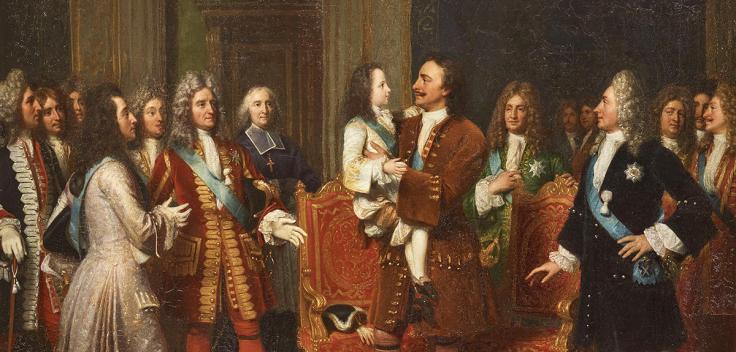 Louis XV enfant visite le Tsar Pierre Ier à l'hôtel de Lesdiguières, le 10 mai 1717
